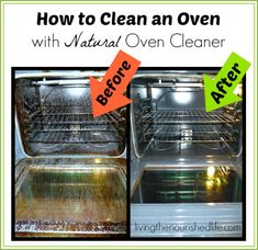 I hate oven cleaning chemicals! I finally found a natural oven cleaner that works and doesn't give me a chemical headache. Homemade Cleaning Products, Cleaning Recipes, Natural Cleaning Products, Cleaning Hacks, Natural Products, Cleaning Supplies, Oven Cleaning, House Cleaning Tips, Spring Cleaning