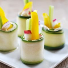 Raw Cucumber Roll-Ups