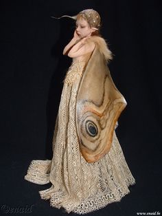 Polymer+Clay+Art | polymer clay art dolls / Moth Fairy by Diane Guelinckx