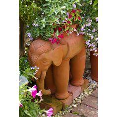 Whichford Pottery: Elephant Planter - All Pots Spice Garden, Dry Garden, Garden Art, Head Planters, Ceramic Planters, Planter Pots, Outdoor Landscaping, Outdoor Gardens, Asian Garden