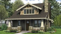 Craftsman Bungalow with Open Floor Plan and Loft. Plan 21145 The Morris is a 1777 SqFt Cottage, Craftsman, Neighborhood Design style… Bungalow Homes, Bungalow House Plans, Cottage House Plans, Craftsman House Plans, Small House Plans, Cottage Homes, House Floor Plans, Bungalow Exterior, Modern Bungalow