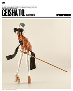 GEISHA TQ SAIRENTOSUTA $140USD (Price includes Worldwide Shipping). Available for pre-order right NOW and only at www.Bambalandstore.com Designed by Ashley Wood. You can find more pics on our blog at WO3A.com #threeA #AshleyWood #AshleyWoodArt #Worldof3A #WO3A #Popbot #TomorrowQueens #TomorrowKings