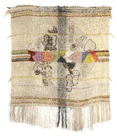 Ida Kerkovius | wool + silk + linen | woven + knitted | 98 cm x 108 cm | Germany | c. 1950