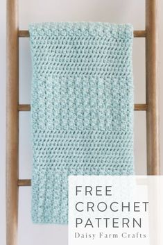 Free Crochet Pattern - Bernat Textured Baby Blanket Hello my friends, I have a new blanket to show you. And this one has quite a creation story! Baby Afghan Crochet, Afghan Crochet Patterns, Crochet Stitches, Crochet Throws, Baby Afghans, Crochet Gifts, Free Crochet, Blanket Yarn, Crochet Projects