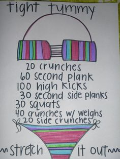 Time to get that tummy in shape!