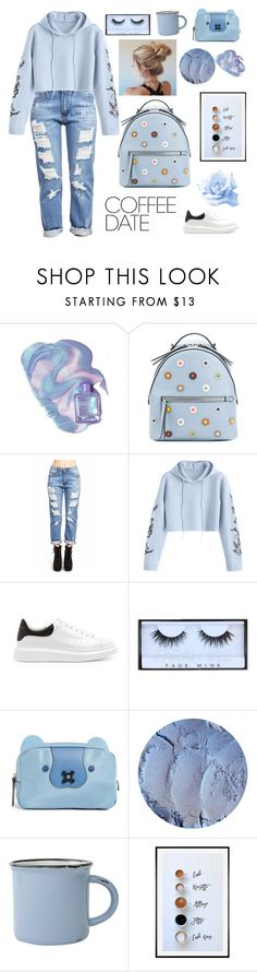 """Untitled #57"" by cardic ❤ liked on Polyvore featuring Fendi, Alexander McQueen, Anya Hindmarch, canvas, Pottery Barn and CoffeeDate"