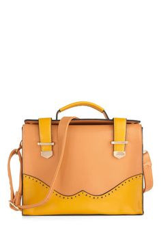 Earn Your Wingtips Bag, #ModCloth  Great laptop bag