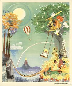 Moomin poster by Tove Jansson - The Rainbow House – The Official Moomin Shop Moomin House, Moomin Shop, Tove Jansson, Moomin Tattoo, Moomin Books, Rainbow House, Moomin Valley, Children's Book Illustration, Kawaii Anime