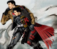 """Jason Todd & Tim Drake By Jiro """"Why are you helping me? You hate me."""" """"What no I don't."""" """"You try to kill me!"""" """"But didn't so... I don't really see your point"""" """"But-but Aaaagggg! Your crazy!"""" """"Hhmmm crazy, yes, your brother too. And this is what brothers do. Even if they try to kill each other. So shut up and keep walking."""""""
