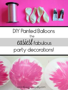 From baby showers to weddings, these painted balloons are a perfect touch of color! So incredibly easy, but look like a DIY expert!  wedding decorations, baby shower, painted balloons, etc!