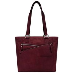 east 5th Cross Zip Leather Tote Bag