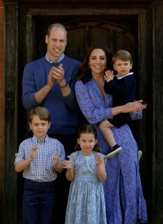 The Duke and Duchess of Cambridge with their children: Prince George, Princess Charlotte, and Prince Louis