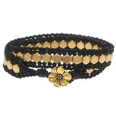 Honeycomb Double Wrapped Loom Bracelet - Black & Gold Jewelry Making Kits, Jewelry Kits, Beaded Jewelry, Wedding Ring Finger, Black Gold Jewelry, Loom Bracelets, Modern Jewelry, Jewelry Design, Honeycomb