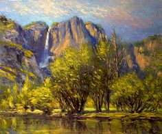 Chuck Larivey - Yosemite - spring #357- Oil - Painting entry - July 2010 | BoldBrush Painting Competition