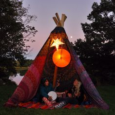 We built this teepee w/ love, good vibes & groovy Mexicali gear!