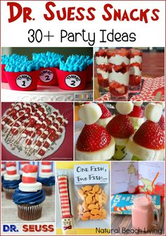 Seuss Party Ideas and Activities for Kids - Natural Beach Living of The Best Dr. Dr Seuss Game, Dr Seuss Snacks, Dr Seuss Activities, Dr Seuss Week, Library Activities, Party Activities, Dr. Seuss, 1st Birthday Party Games, Dr Seuss Birthday Party