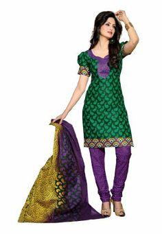 Indian Designer Wear Pure Cotton Green Printed Salwar kameez Fabdeal, http://www.amazon.de/dp/B00J0V08XE/ref=cm_sw_r_pi_dp_xS6otb1DX67ME