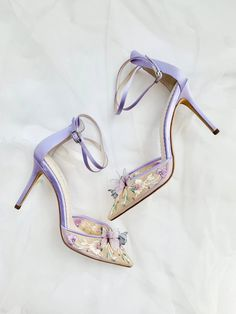 Lavender wedding shoes for the romantic bride! These Butterfly heels would be so perfect for a lush garden party or any bride searching for the perfect pop of color for her wedding shoes. Gorgeous & embellished, lavish & comfortable, these Bella Belle Shoes heels are just so beautiful! #bridal #bridalshoes #weddingshoes #weddingheels #bridalheels #bellabelleshoes #bellabelle @bellabelleshoes Garden Of Eve, Butterfly Heels, Shoe Crafts, Embellished Shoes, Comfortable Heels, 5 Inch Heels, Party Shoes, Your Shoes, Fashion Advice