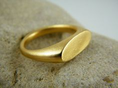 Items similar to Gold signet ring oval gold ring dainty gold ring personalized ring on Etsy Mens Gold Rings, Dainty Gold Rings, Silver Rings, Jewelry Rings, Silver Jewelry, Men's Jewellery, The Bling Ring, Gold Ring Designs, Square Rings