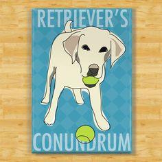 Labrador Retriever Magnet - Conundrum - Yellow Lab Dog Magnet. $5.99, via Etsy.