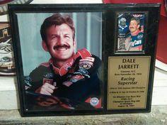 """dale jarrett nascar collectors12"""" x 15"""" racing plack from $14.99"""