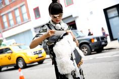 Street looks at New York Fashion Week Spring/Summer 2014, Day 3