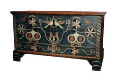 This Eastern Tennessee Decorated Blanket Chest Exhibits A German Swiss  Influence. Fred Taylor Image