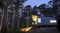 Designed for a professional fire fighter and his family, the Karri Fire House is an exemplar of affordable construction for extreme levels of bushfire attack. Arctic Cabins, Masonry Wall, Architecture Awards, Home Defense, Radiant Heat, Building A New Home, Through The Window, Western Australia, Old Houses