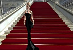 ***PURE POISON*** Valentina Gown Black