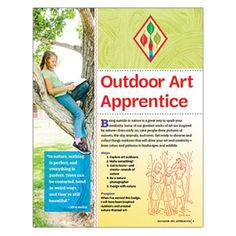 CADETTE OUTDOOR ART APPRENTICE BADGE REQUIREMENTS - PRINTED AND DOWNLOAD VERSIONS