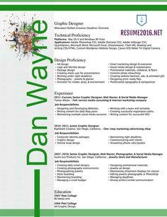 sample graphic designer resume