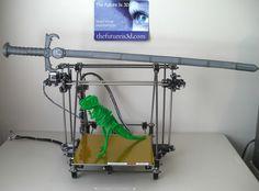 3d Printing of Dinosaur & Sword