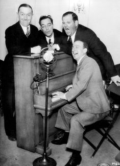 Stan Laurel Buster Keaton Oliver Hardy and Jimmy Durante in 1931 http://ift.tt/2gHG1bM