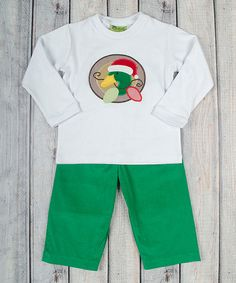 Look at this White Christmas Duck Top & Green Pants - Infant Christmas Duck, White Christmas, Set Cover, Green Pants, Baby Boy Fashion, Holiday Fashion, Holiday Fun, Snug, Infant
