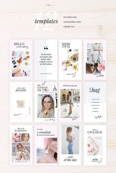 Stories Photoshop Pack by on Instagram Feed, Instagram Design, Instagram Story Template, Instagram Story Ideas, Instagram Posts, Instagram Layouts, Instagram Templates, Graphisches Design, Layout Design
