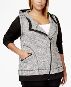 Calvin Klein Plus Size Asymmetrical-Zip Jacket - Jackets & Blazers - Plus Sizes - Macy's
