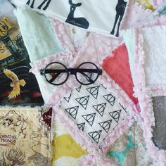 Today is Harry Potter's birthday! My three year old son is so excited that he picked out some special rocks to… Baby Rag Quilts, Three Year Olds, Gift Guide, Baby Shower Gifts, Rocks, Harry Potter, Old Things, Birthday, Style