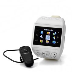 "Mobile Phone Watch with Keypad ""Quartz"" - Dual SIM, Touch Screen, Bluetooth Headset, 4GB micro SD card;  http://www.chinavasion.com/3xii-CheapMobilePhones/"