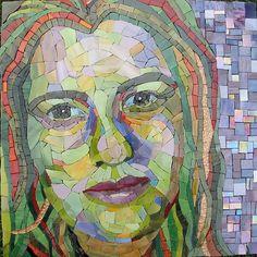 Mosaic Portraits using magazine, colored paper, photographs, etc