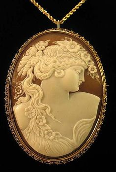 The Ultimate Goddess Flora Shell Cameo/brooch/pendant (late 1920's-1932)