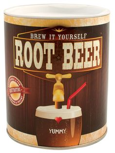 Brew Your Own Root Beer Kit |   This easy to use kit lets kids brew up 4 gallons of old fashion root beer naturally carbonated with real yeast. |   Recommended Age: 8+ | Price Tag: $14.95 #geek #girl #gift #kid #child #toy #educational