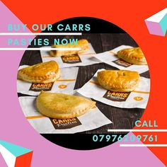 Our Carrs Pasties are really to be sold.Perfect for lunch and dinner to order call 07976208761 SHARE TELL FRIENDS & FAMILY  Our Menu  PLEASE LIKE COMMENT AND SHARE  We are Now Ready To Take Orders For Carrs Pasties Call 07976208761 or pre order on Facebook  Delivery service available call Now 07976208761  Carrs Pasties Menu Lunch & Dinner 2pm Till 10pm MONDAY-SATURDAY  Minimum Order 10.00  Pasties Steak Pasty 2.80 Cheese and Potato Pasty 2.50 Meat and Potato Pasty 2.50 Sausage Rolls 1.50… Sausage Rolls, Lunches And Dinners, Friends Family, Ivy, Steak, Menu, Delivery, Potatoes, Cheese