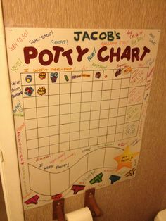 Reward chart for potty training created from other chart ideas create and make it your own could be used for chores, etc! All materials from local dollar tree