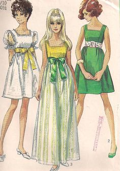Vintage 1968 Simplicity 8061 Young Junior / Teen by PatternsOfYore