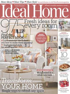 Ideal home 2015 03 Ideal Home Magazine, House And Home Magazine, Fall Home Decor, Autumn Home, Home Decor Inspiration, Old Houses, Farmhouse Decor, New Homes, Room Decor