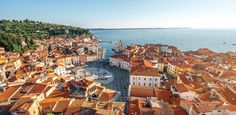 Slovenia is a country with a population of 2 million. Our route will lie through the capital Ljubljana, lake Bled, seaside Piran, Predjama Castle, and more. Bergen, Places To Travel, Places To Go, European Destination, Honeymoon Destinations, Holiday Destinations, Grand Hotel, Hotel Spa, Tourism