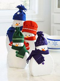 Love these snowmen. Our kids made us one for each of our grandchildren.