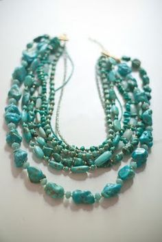 turquoise necklace love for with a wedding dress. Wish it had pearls in it.