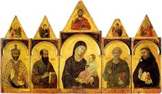 Duccio di Buoninsegna (c. Madonna and Child with Saints Gold and tempera on panel, about x cm Pinacoteca Nazionale, Siena, Italy Madonna Und Kind, Madonna And Child, Renaissance Artists, Italian Renaissance, Italian Painters, Italian Artist, Duccio Di Buoninsegna, Web Gallery Of Art, National Art