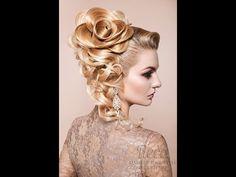 Прическ роза и макияж Лариса Реча - YouTube